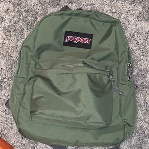 Army Green Jansport Backpack